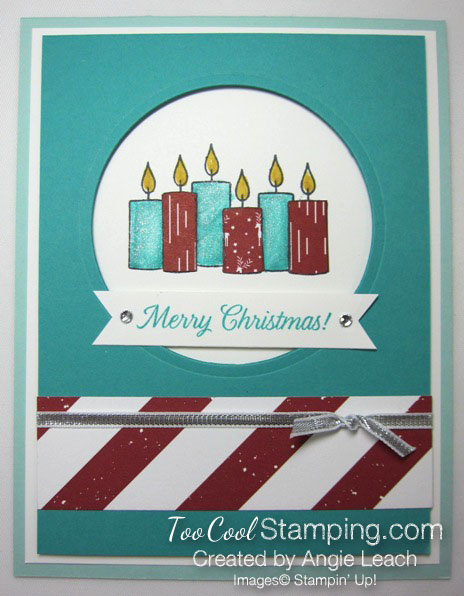 Paper pieced candles - bermuda & pool