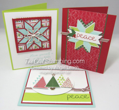 Christmas Quilt Cards - 3 styles