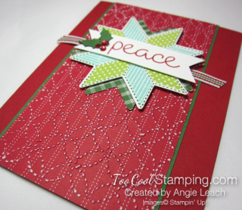 Christmas Quilt Textured Peace - red 2