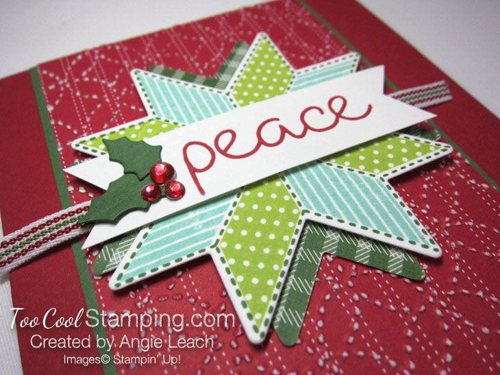 Christmas Quilt Textured Peace - red 3