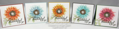 Painted Harvest Pizza Box Note Cards - 5 cool