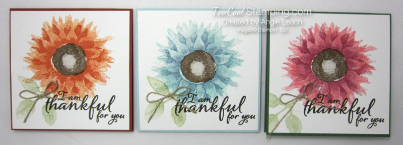 Painted Harvest Pizza Box Note Cards - 3 cool