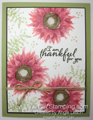 Painted harvest thankful cards - pink