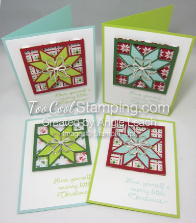 Christmas Quilt Recessed Star - 4 cool
