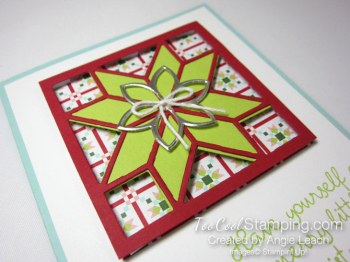 Christmas Quilt Recessed Star - lime red star 2