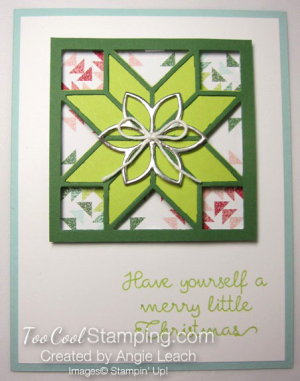 Christmas Quilt Recessed Star - lime green star 1