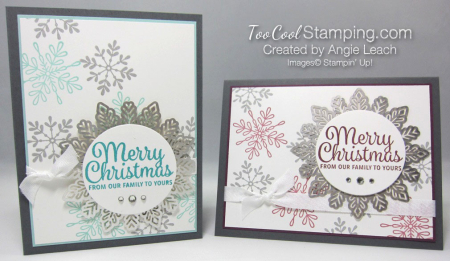 Snowflake sentiments falling snowflakes - two cool