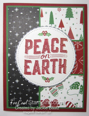 Jackie - Peace on Earth red & green