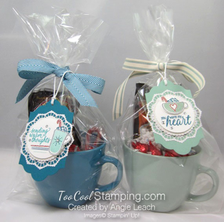 Hug mugs - blue & mint