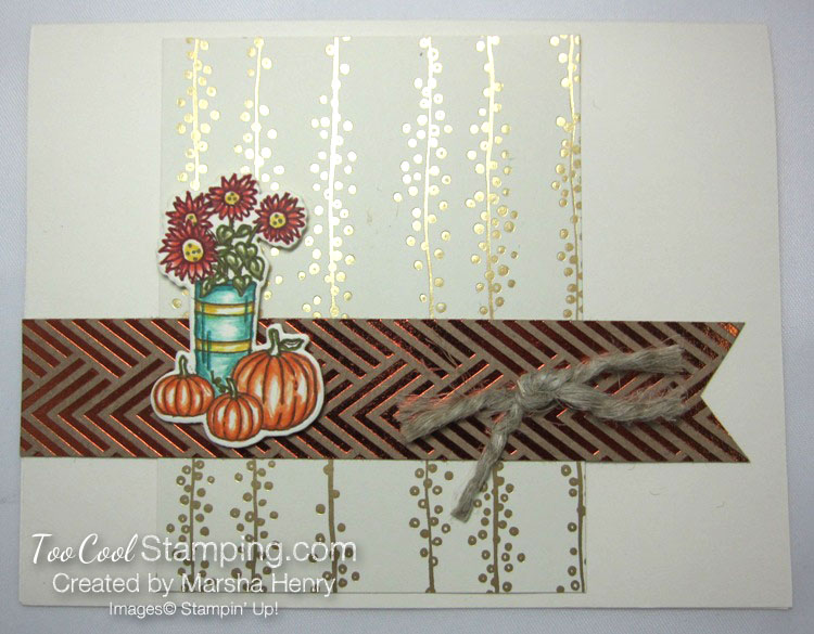 Marsha - fancy foil at home with you