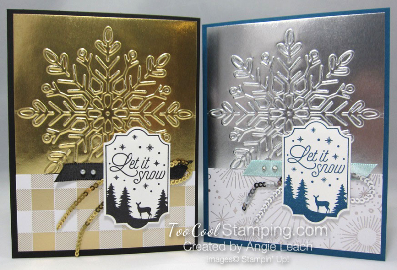 Year of Cheer Metallic Snowflakes - two cool
