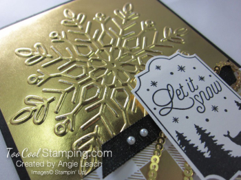Year of Cheer Metallic Snowflakes - gold 3