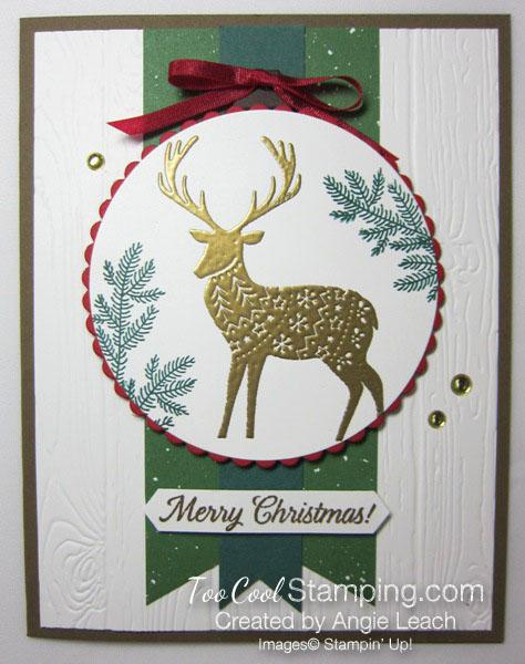 Merry patterns christmas reindeer - green & gold