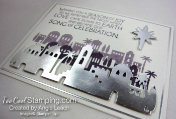Night in bethlehem elegant foils - silver 2.5