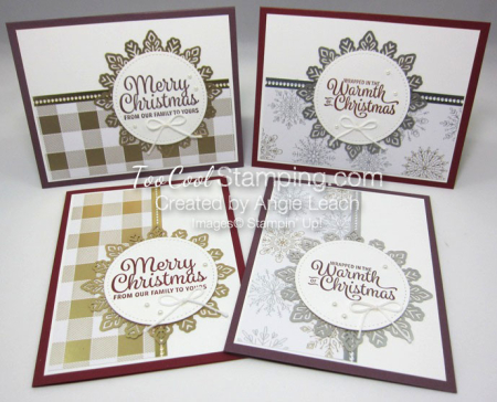 Snowflake sentiments year of cheer foil - 4 up