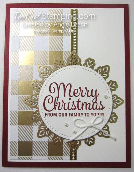 Snowflake sentiments year of cheer - cherry