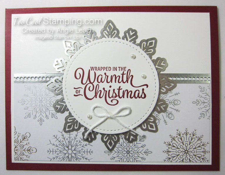 Snowflake sentiments year of cheer - cherry silver
