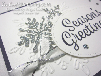Snowflake Sentiments Seasons Greetings - eggplant 3