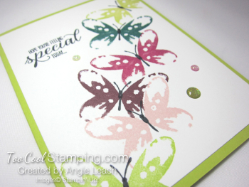 Watercolor wings in color cards - lime 2