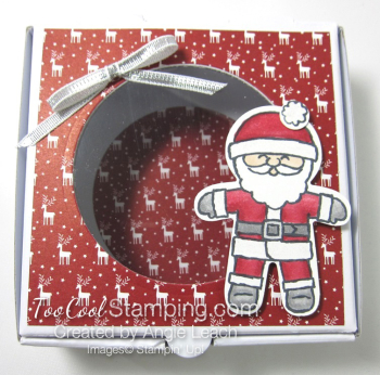 Cookie Cutter Mini Pizza Boxes - santa 2