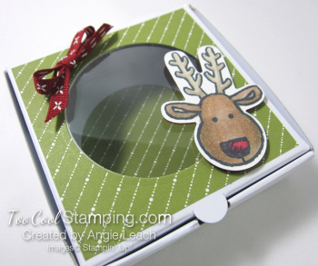 Cookie Cutter Mini Pizza Boxes - reindeer 2