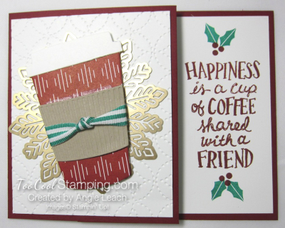 Holiday coffee cafe gift card holder - cherry