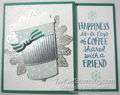 Holiday coffee cafe gift card holder - emerald