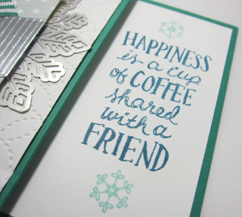Holiday coffee cafe gift card holder - emerald 2