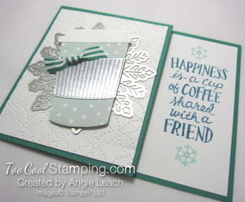 Holiday coffee cafe gift card holder - emerald 3