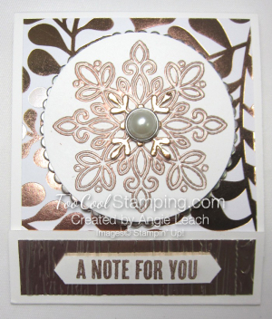 Year of cheer sticky note holder - copper