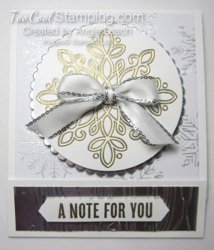Year of cheer sticky note holder - silver