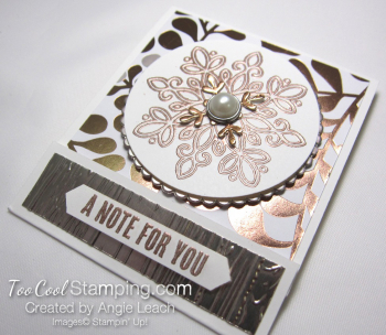 Year of cheer sticky note holder - copper 2