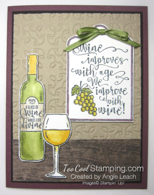 Half full wine improves with age bar - white