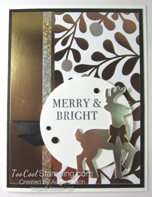 All year year mixed metal reindeer - copper