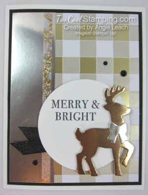 All year year mixed metal reindeer - gold