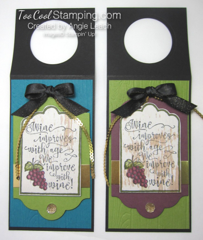 Half full wine tags - two cool