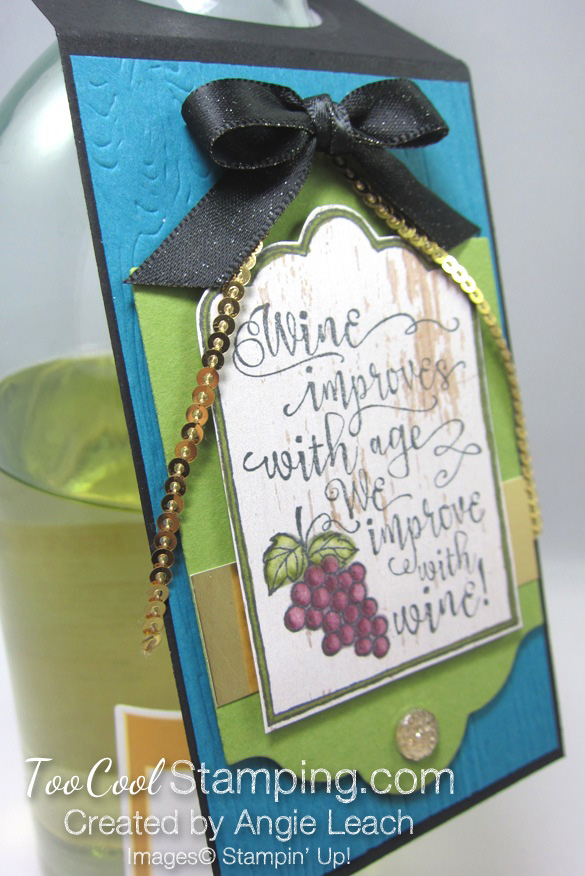 Half full wine tags - indigo bottle 2