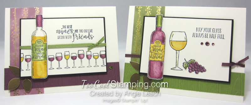 Wine & friends cards - two cool