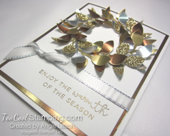 Metallic leaf wreath 2