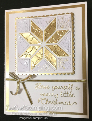 Quilted gold christmas - janet shinn