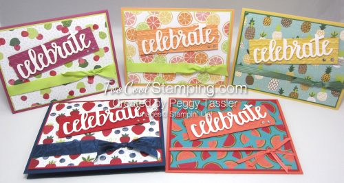 Tutti frutti celebrate you cards