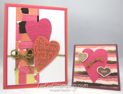 Painted with love Valentine's cards - two cool