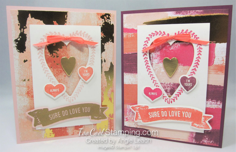 Sure do love you recessed hearts - two cool