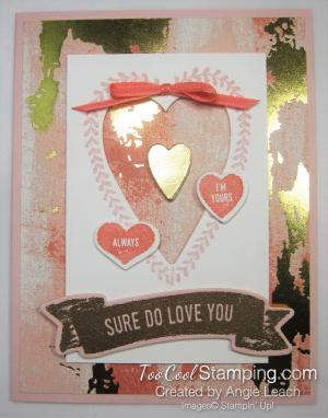 Sure do love you recessed hearts - powder