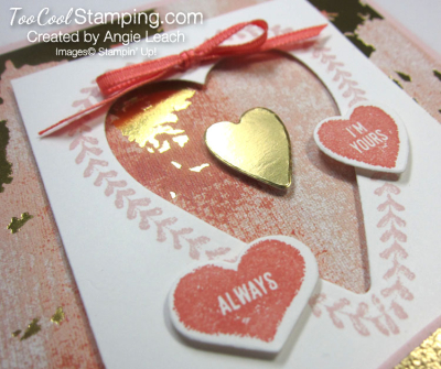 Sure do love you recessed hearts - powder 6