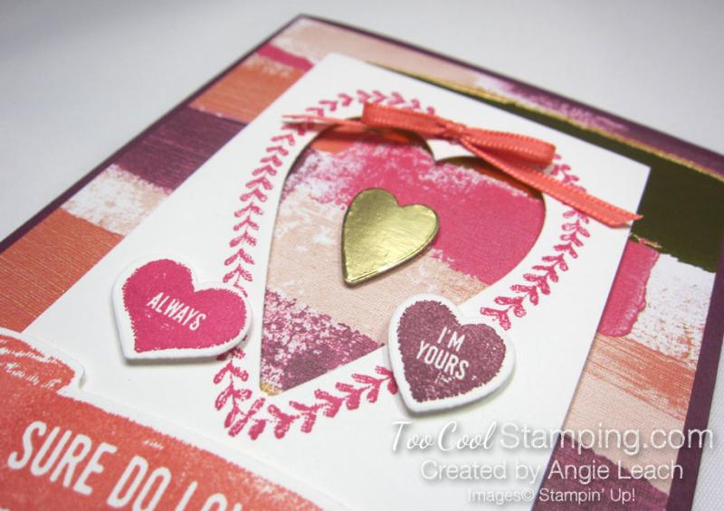 Sure do love you recessed hearts - razzleberry