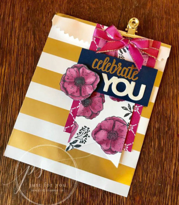 Celebrate you striped treat bag - loni spendlove