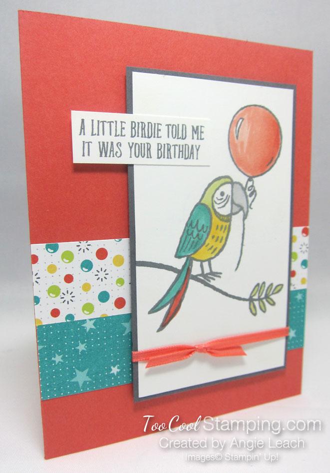 Bird Banter Birthday Balloon - coral