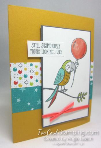 Bird Banter Birthday Balloon - daffodil