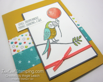 Bird Banter Birthday Balloon - daffodil 2